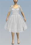 1950's Ruched Dress