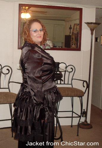 Gothic Victorian Punk Corset Satin Jacket