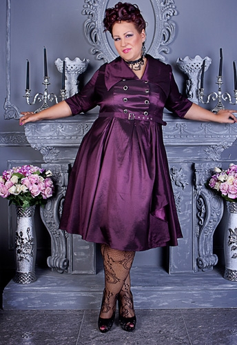 Belted Flared Dress