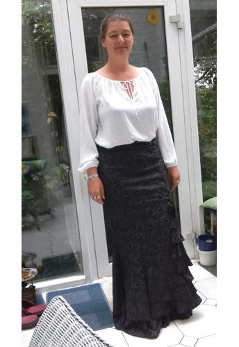 Jacquard Fishtail Skirt