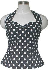 50's Style Rockabilly Polka-Dot Halter-Top