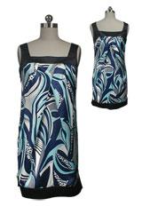 Satin Pleated Straight Dress