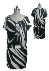 Pleated Loose Fit Mini Dress