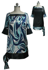 Tie Hem Reversible Tunic Dress