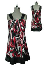 Ruched Trapeze Mini Dress