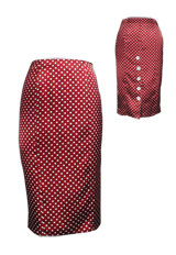 Sexy Polka Dot High-Waist Pencil Skirt