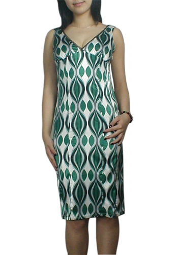 Green Sexy Low V-neck Slim-Down Pencil Dress