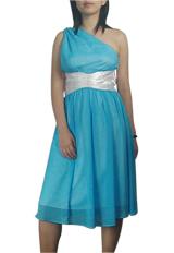 One-Shoulder Chiffon Goddess Dress