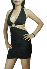 Sexy Club Clubbing Halter V-Neck Mini Dress