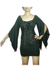 Lace-Up Angel Corset Mini Dress