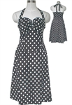 Plus-Size Rockabilly Polka-Dot Halter Dress