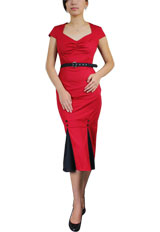 Plus-Size Vintage Pencil Dress