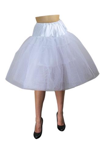 White Plus-Size Organza Petticoat