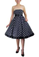 Plus-Size Bowknot Polka-dot Dress
