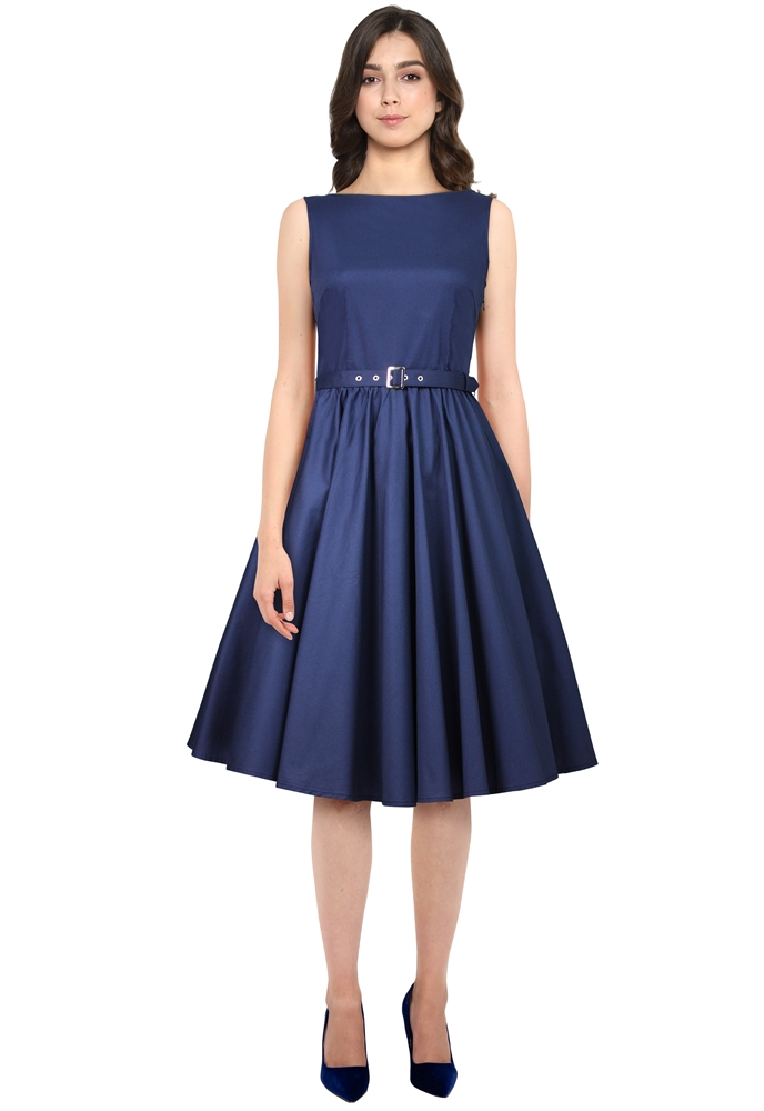 Sleeveless Belted Dress