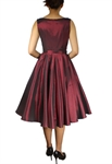Satin Sleeveless Belted Dress