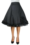 Satin Ruffled Skirt