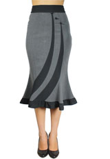 Fitted Flared Skirt