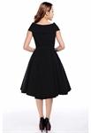 Bow Collar V-Neck Dress