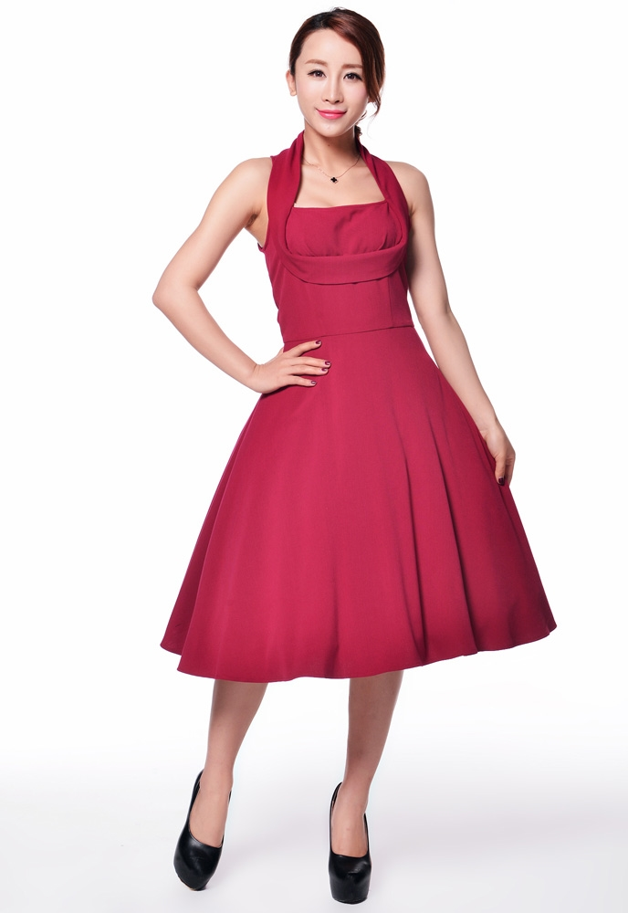 1950s Shelf Bust Dress