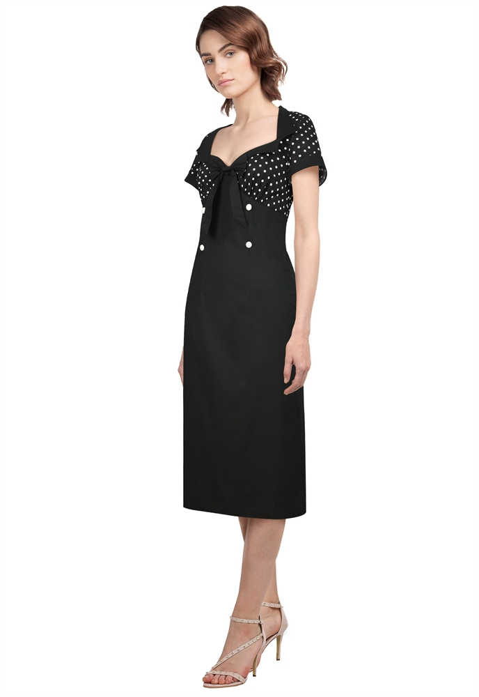 Plus Size Polka-dot Pencil Dress