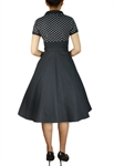 Plus Size Polka-dot Flare Dress