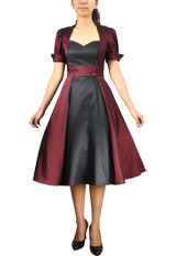 Plus Size Contrast Swing Dress