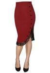 Plus Size Pinup Ruffle Skirt