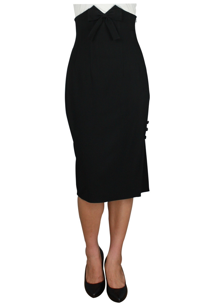 Plus Size High Waist Bow Skirt