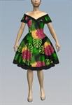 Tropical Off Shoulder Dress
