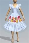 Retro Ruffle Dress