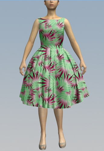 Palms Green Burgundy