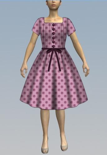 Pintuck dress
