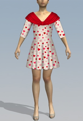 Shawl dress sleeves
