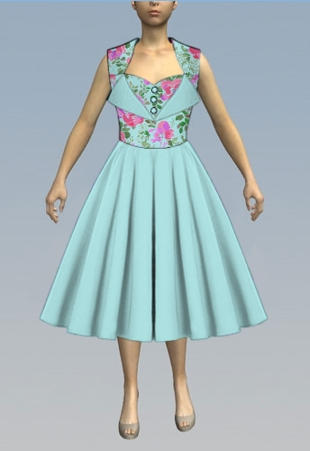 wing collar dress