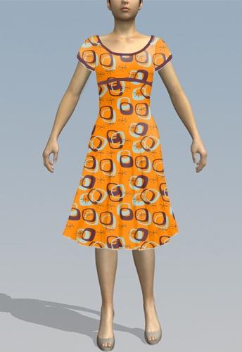 Retro Geo/orange