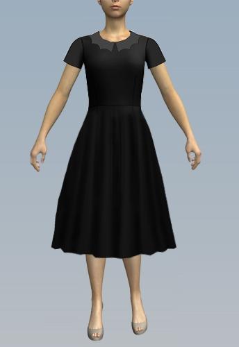 long, loose skirt