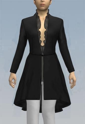 Open waist jacket