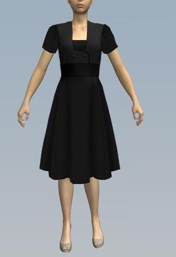 Short sleeves/past knee length