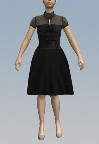 Full skirt hemline
