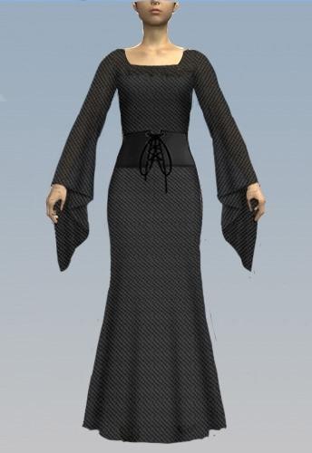 Dress with corset waist
