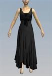 Ruffled maxi dress with bow