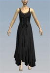 Lace up ruffled maxi dress