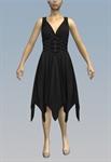 3-belt corset waist handkerchief dress