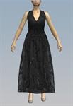 Halterneck lace and chiffon maxi dress