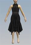 Turtleneck crochet handkerchief dress