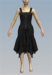 Buttoned lacy handkerchief dress