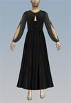 Open sleeve peephole maxi dress