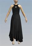 Peephole ruffled maxi dress