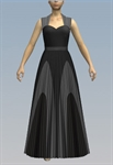 Contrasting sweetheart maxi dress